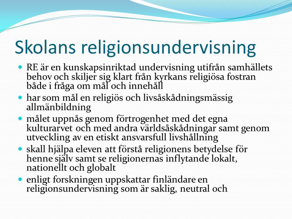 Skolans religionsundervisning