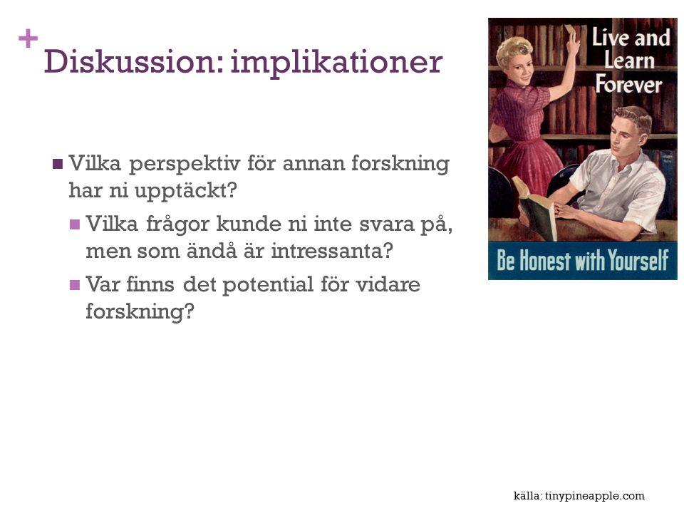 Diskussion: implikationer