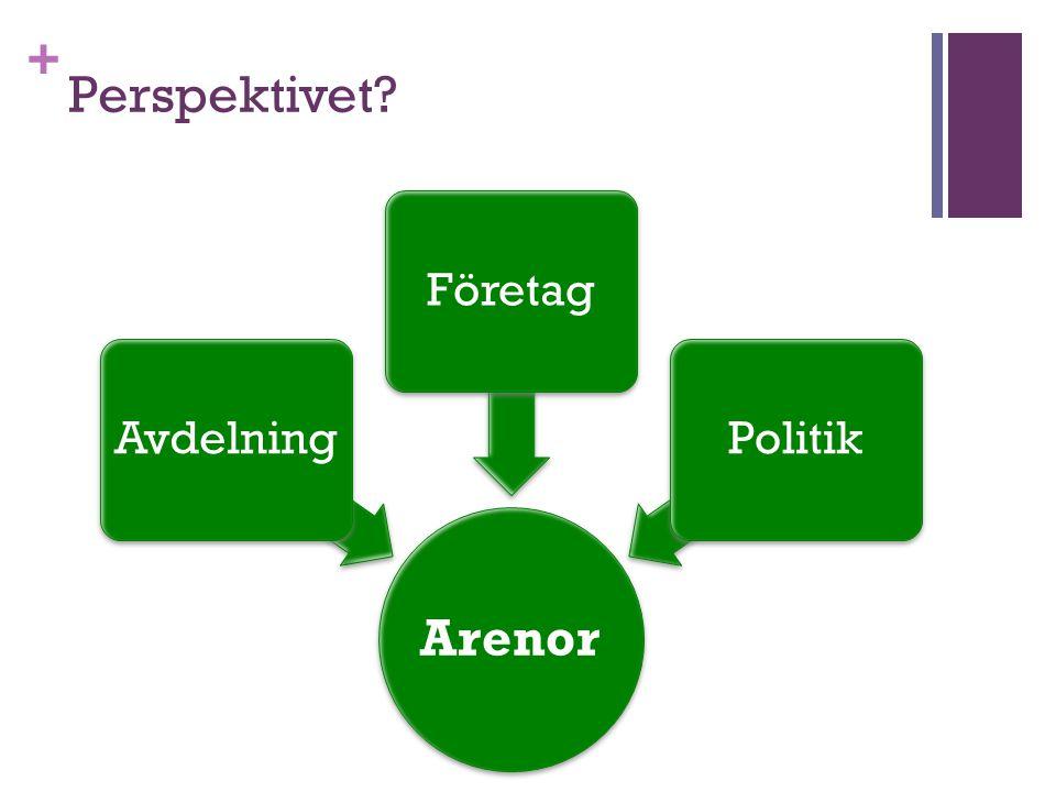 Perspektivet Arenor Avdelning Företag Politik