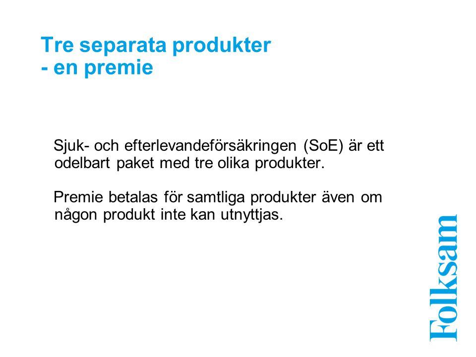 Tre separata produkter - en premie