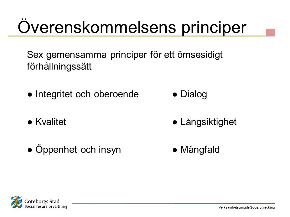 Överenskommelsens principer
