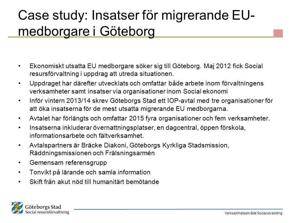 Case study: Insatser för migrerande EU-medborgare i Göteborg