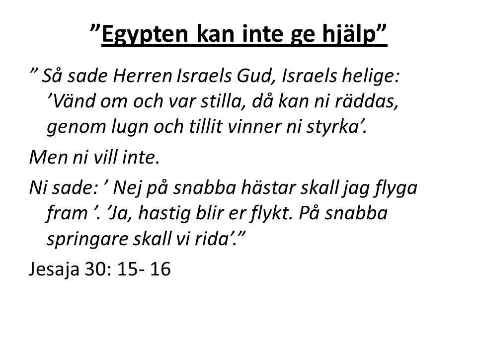 Egypten kan inte ge hjälp