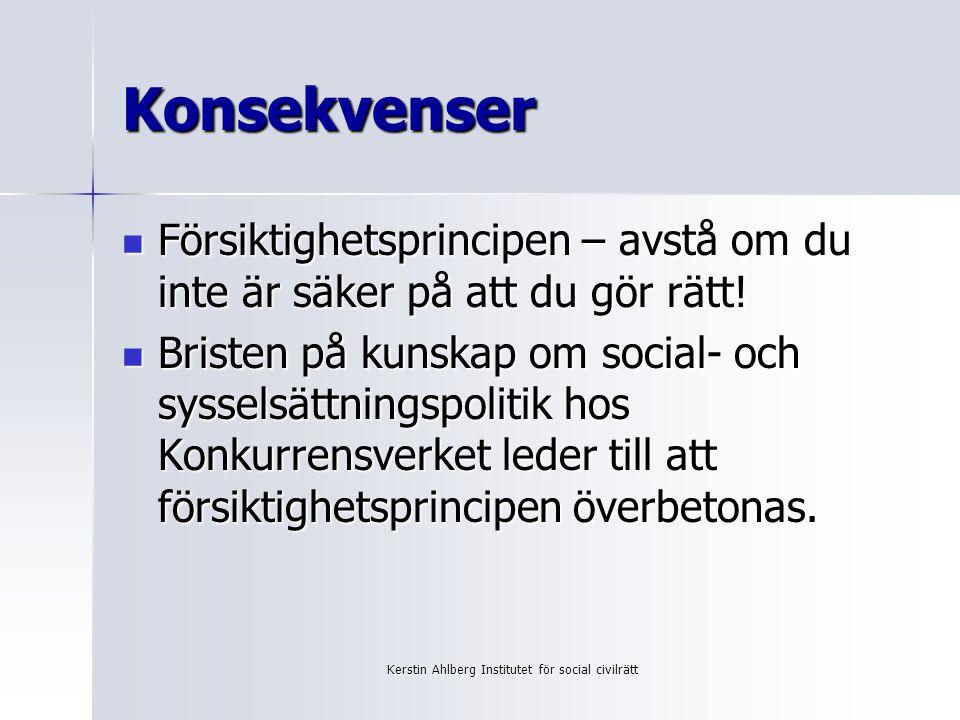Kerstin Ahlberg Institutet för social civilrätt