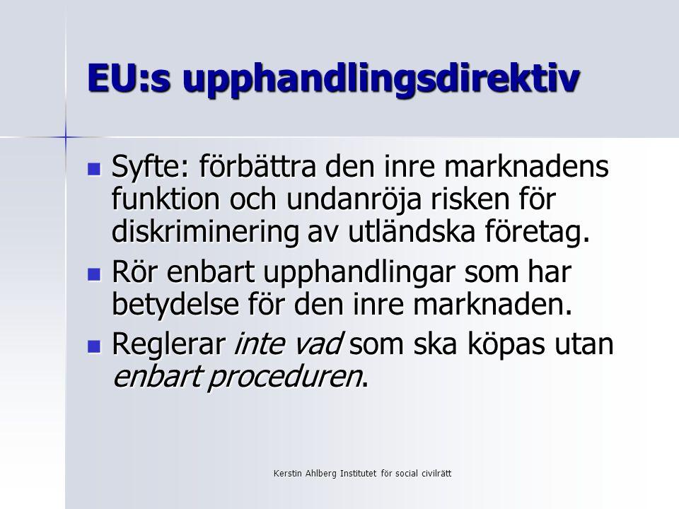 EU:s upphandlingsdirektiv