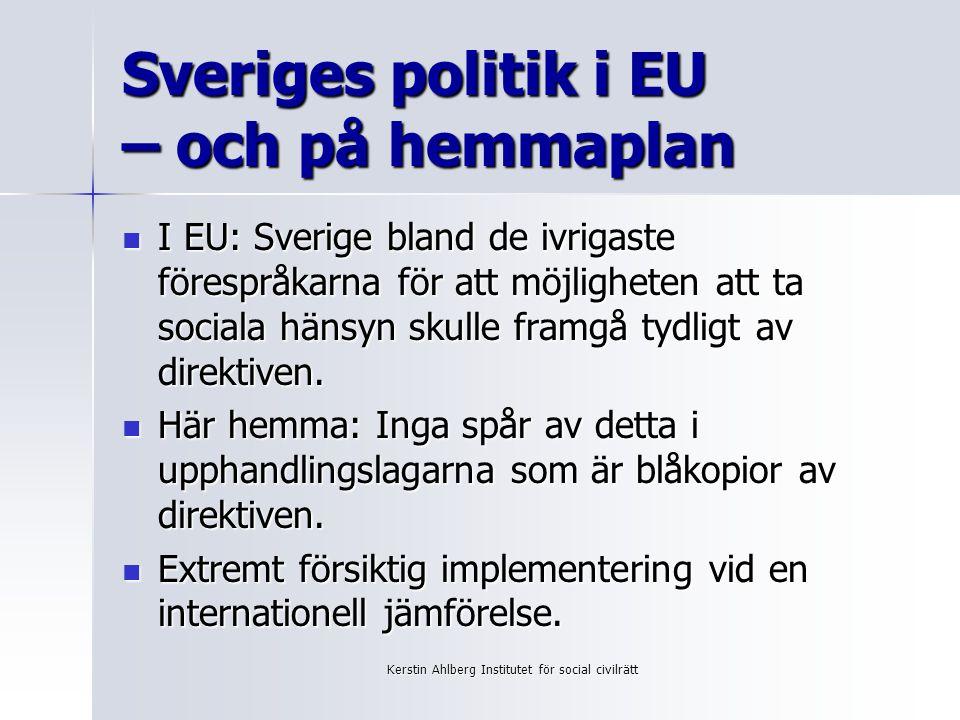 Sveriges politik i EU – och på hemmaplan