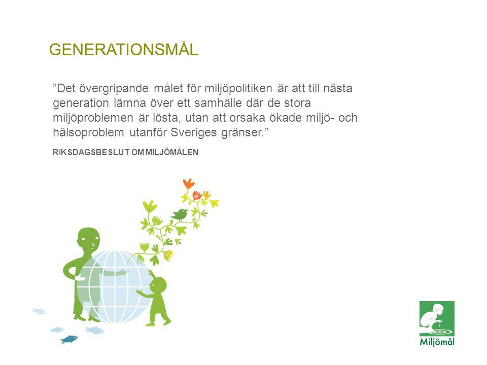 Generationsmål GENERATIONSMÅL
