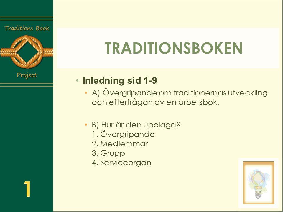 1 Traditionsboken Inledning sid 1-9