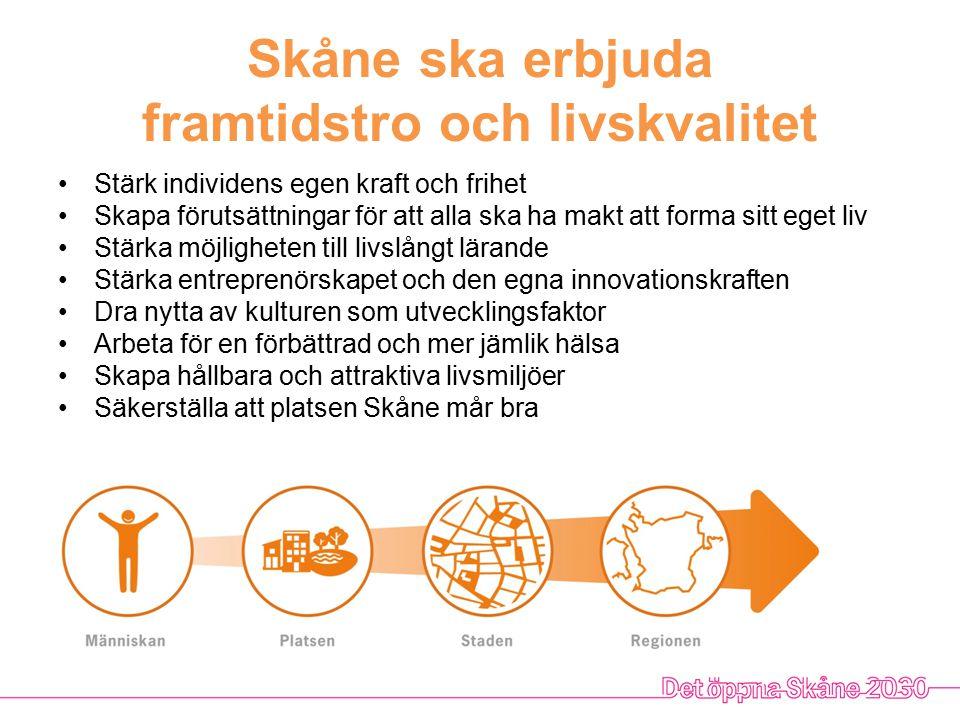 Skåne ska erbjuda framtidstro och livskvalitet