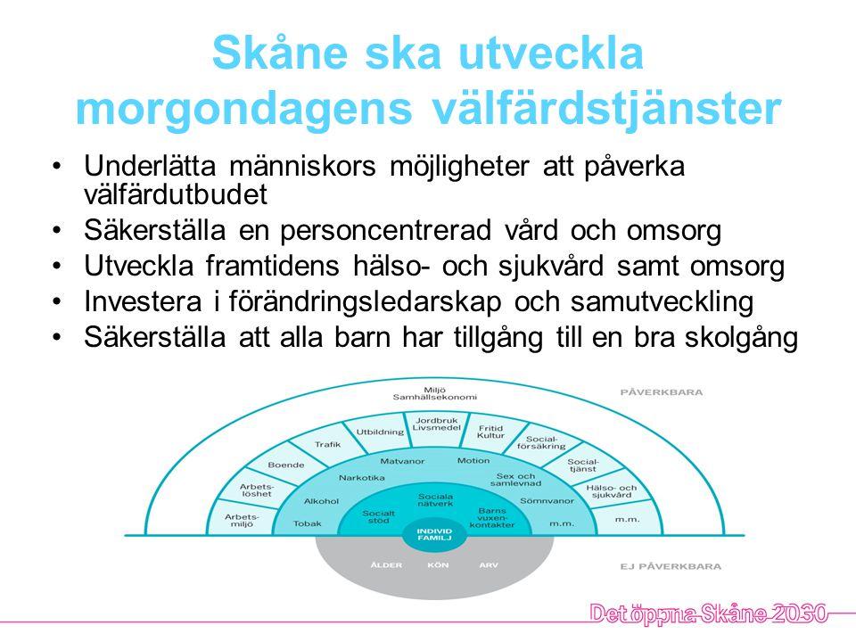 Skåne ska utveckla morgondagens välfärdstjänster