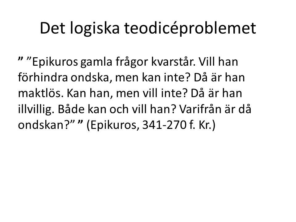 Det logiska teodicéproblemet
