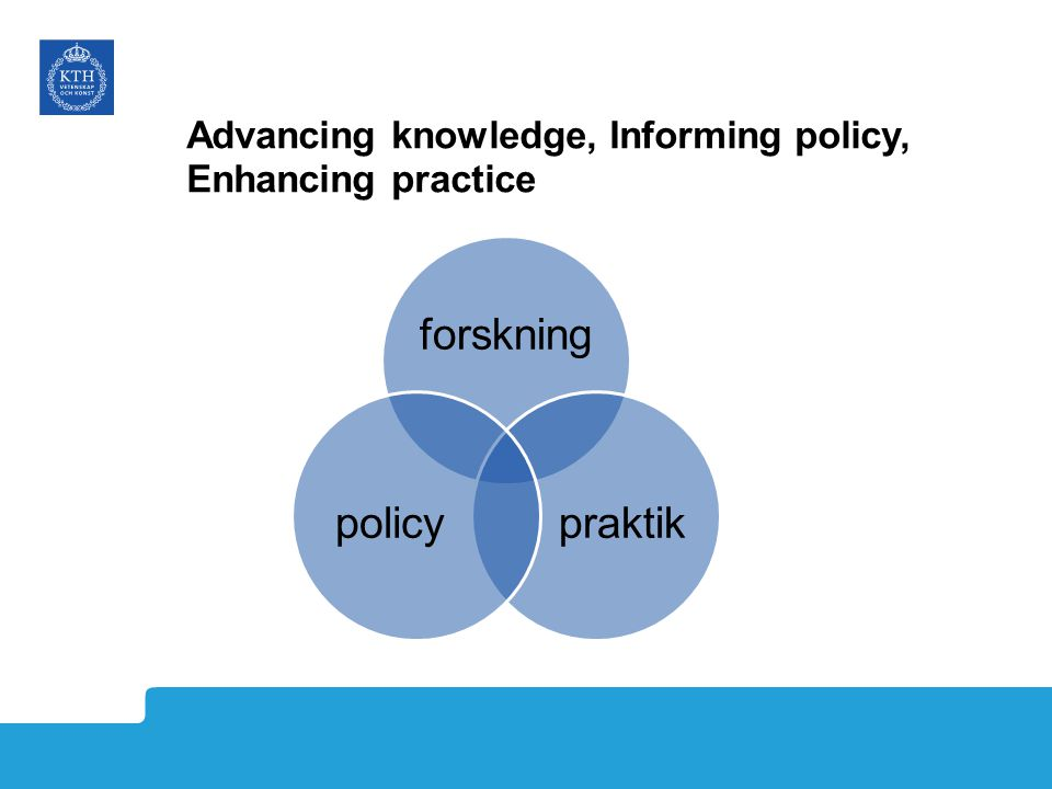 Advancing knowledge, Informing policy, Enhancing practice