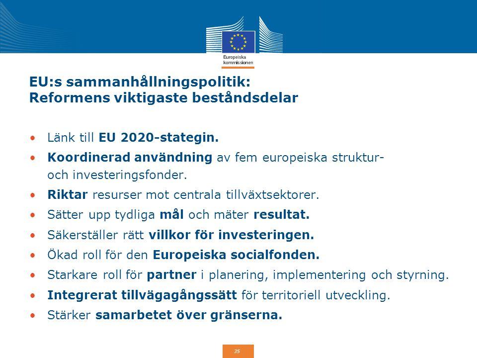 EU:s sammanhållningspolitik: Reformens viktigaste beståndsdelar