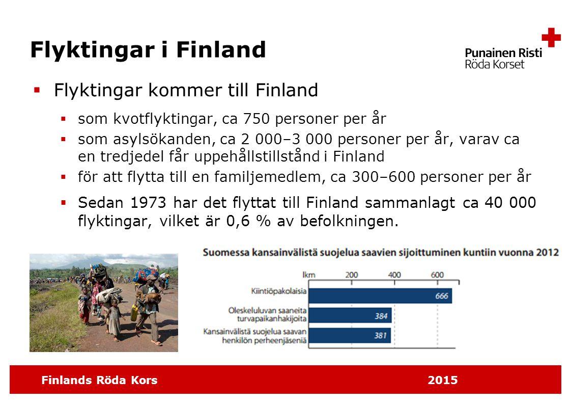 Flyktingar i Finland Flyktingar kommer till Finland
