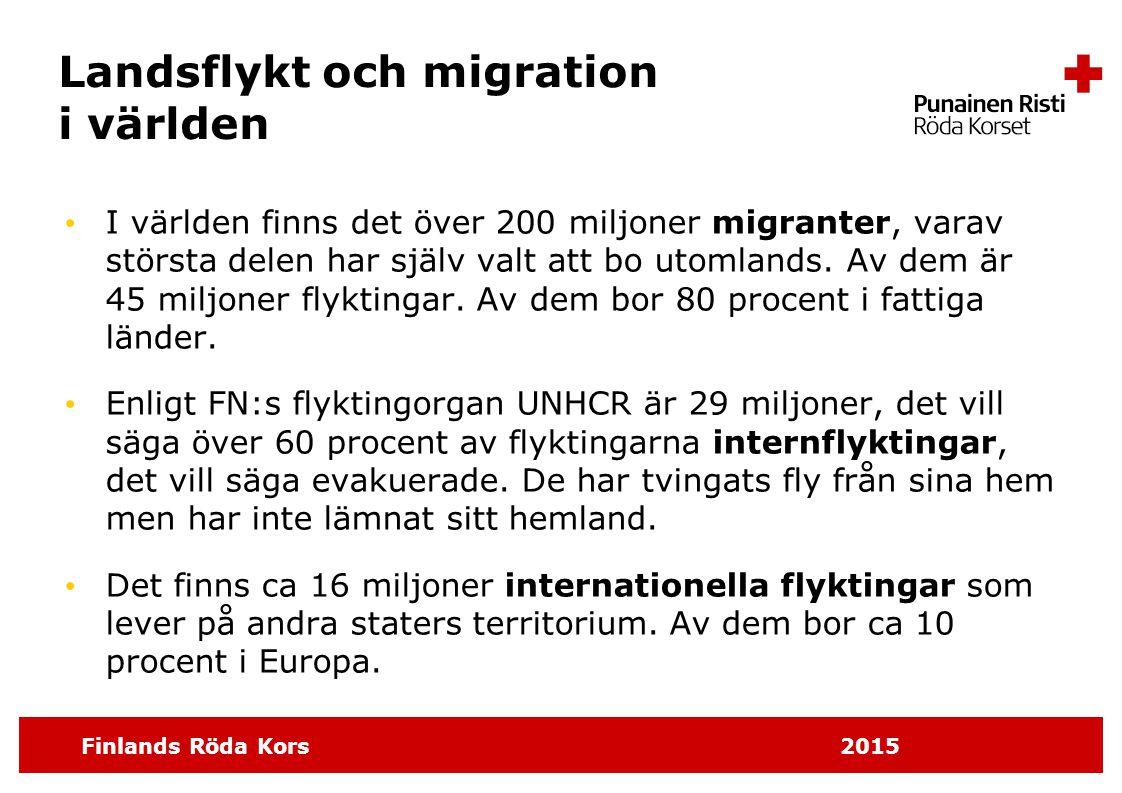 Landsflykt och migration i världen