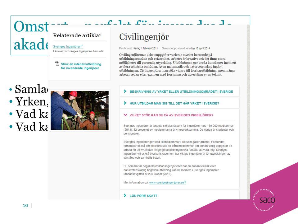 Omstart – perfekt för invandrade akademiker
