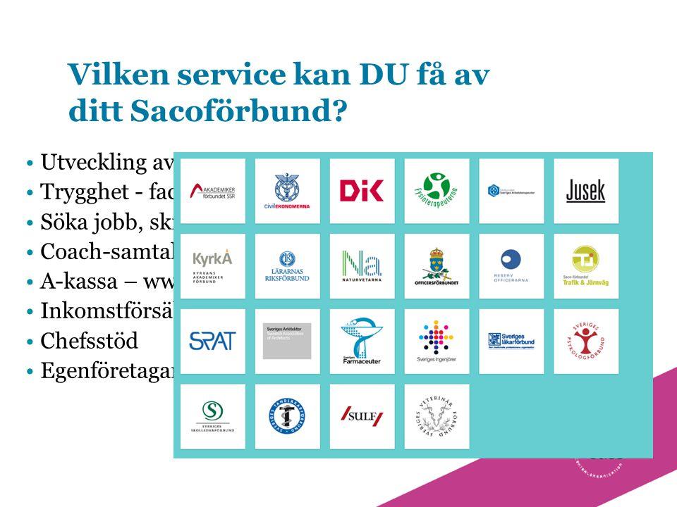 Vilken service kan DU få av ditt Sacoförbund