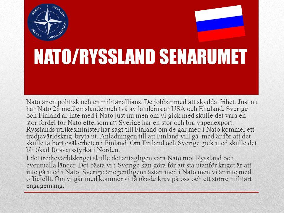 Nato/ryssland senarumet