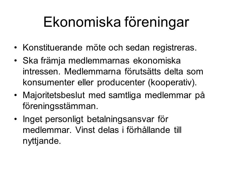 Ekonomiska föreningar