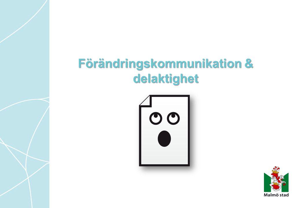 Förändringskommunikation & delaktighet