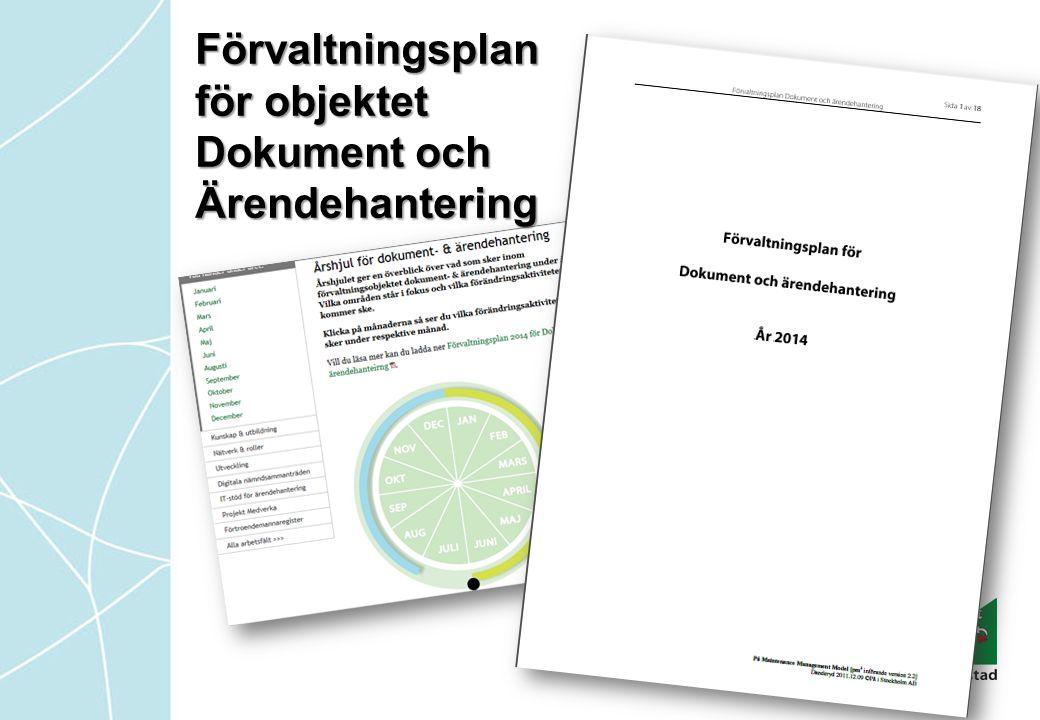 Förvaltningsplan för objektet Dokument och Ärendehantering