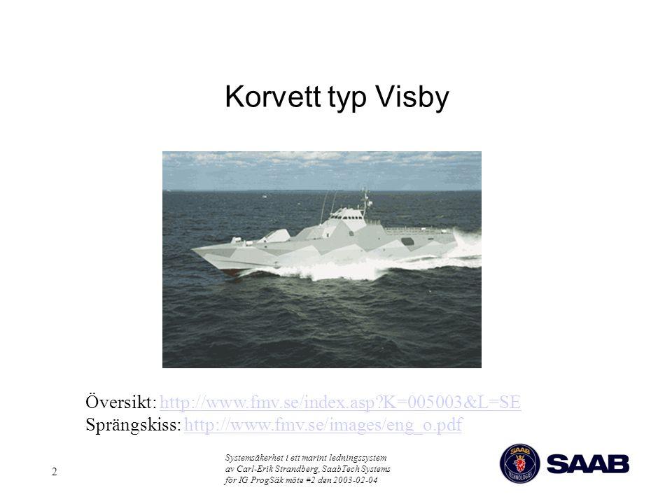 Korvett typ Visby Översikt: http://www.fmv.se/index.asp K=005003&L=SE Sprängskiss: http://www.fmv.se/images/eng_o.pdf.