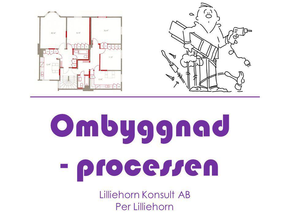 Ombyggnad - processen Lilliehorn Konsult AB Per Lilliehorn