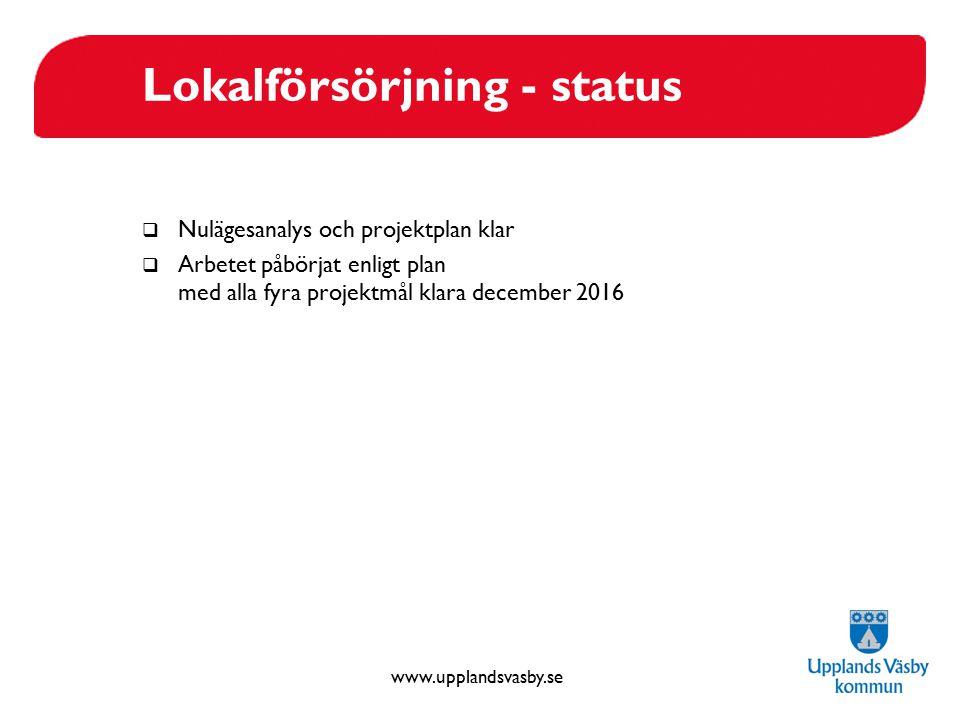 Lokalförsörjning - status