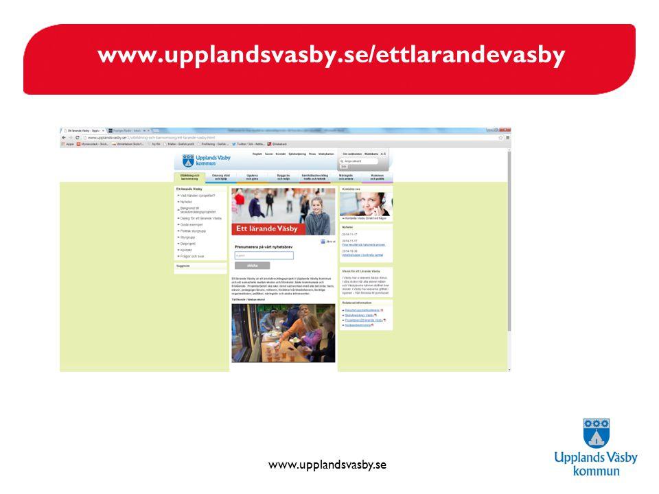 www.upplandsvasby.se/ettlarandevasby Förbättring av menyn