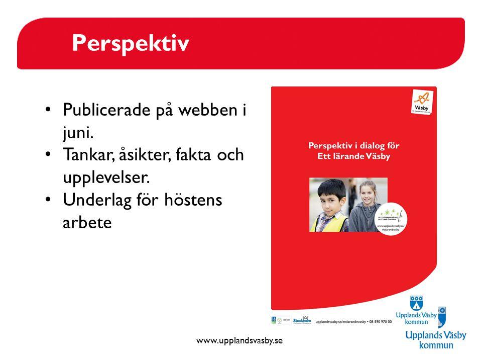 Perspektiv Publicerade på webben i juni.