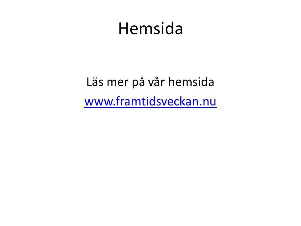 Läs mer på vår hemsida www.framtidsveckan.nu