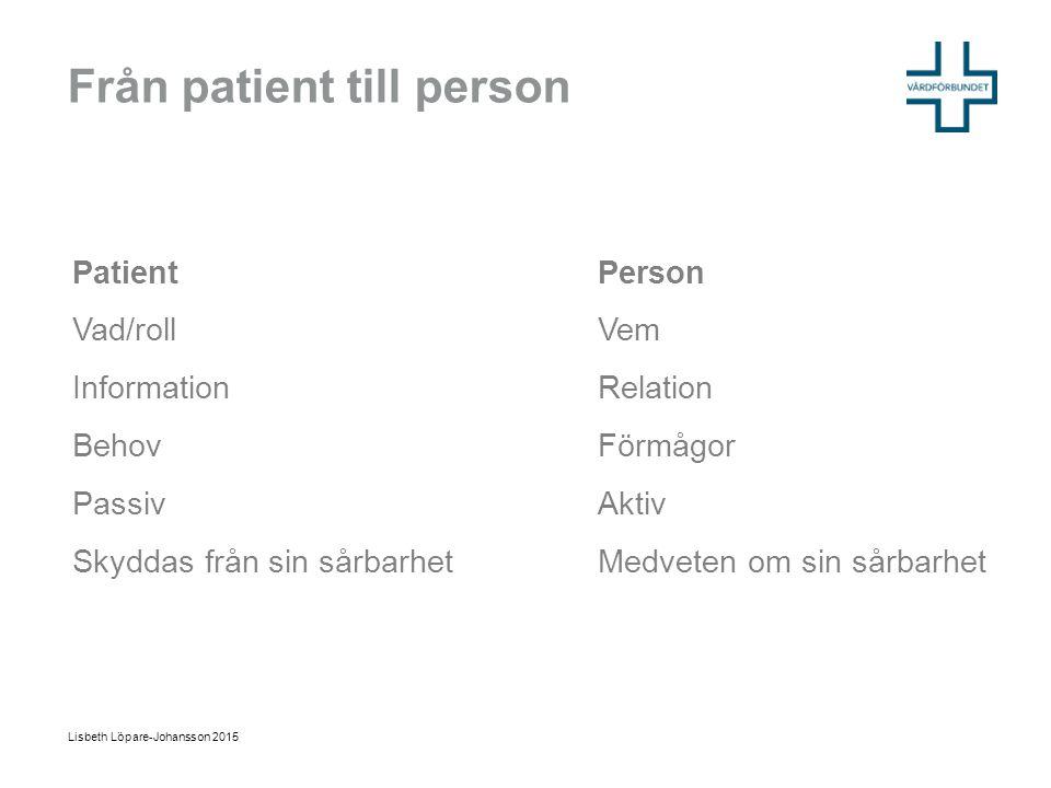 Från patient till person