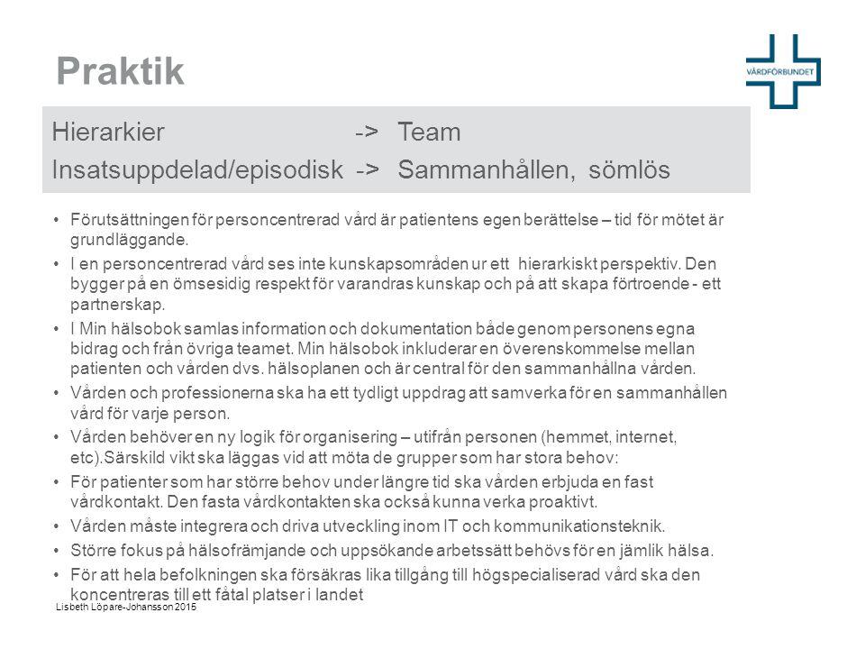 Praktik Hierarkier -> Team