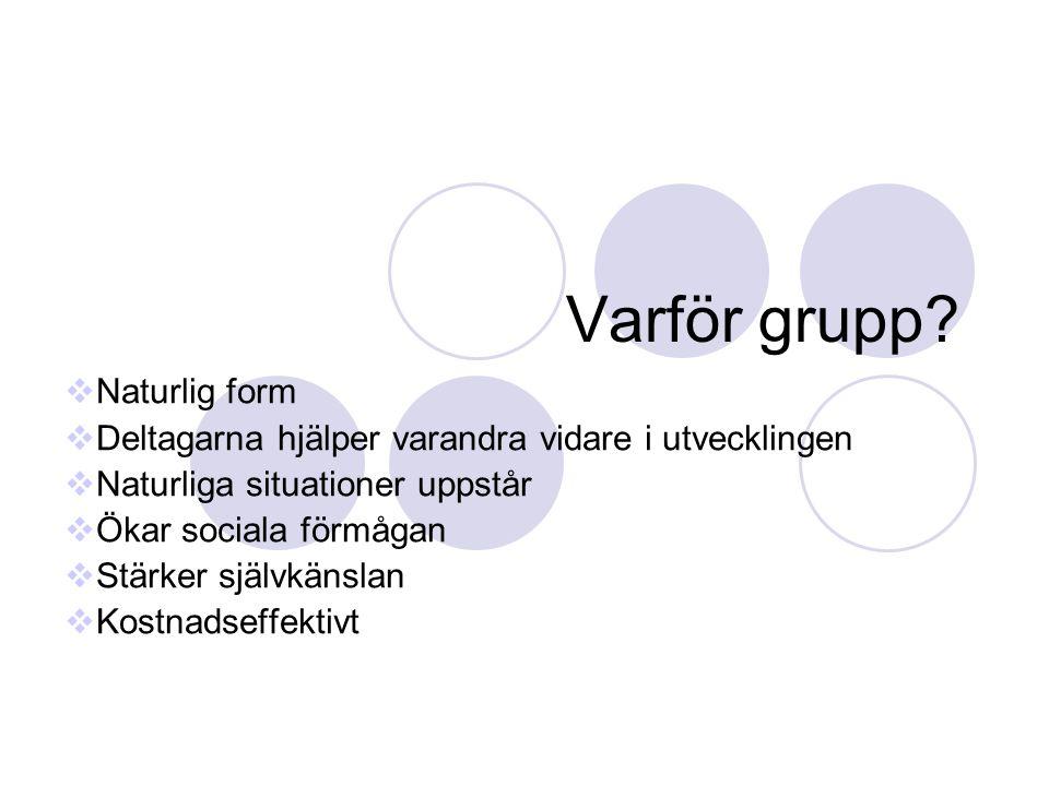 Varför grupp Naturlig form