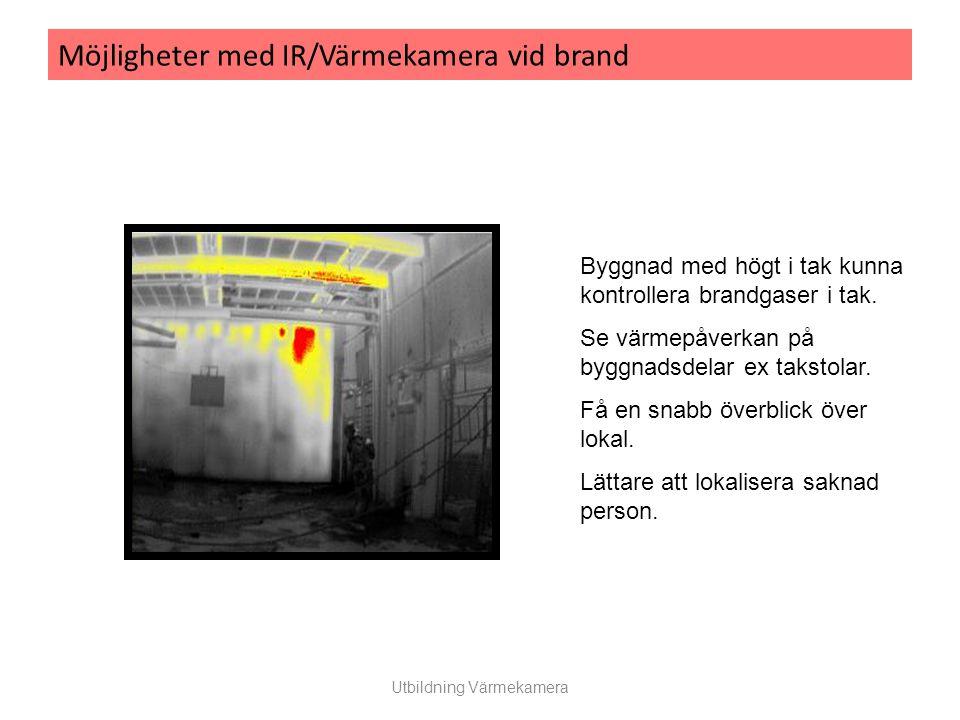 Möjligheter med IR/Värmekamera vid brand