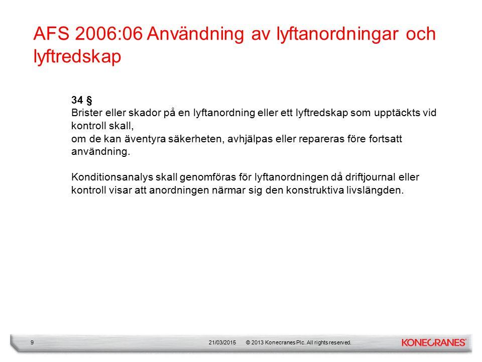 AFS 2006:06 Användning av lyftanordningar och lyftredskap