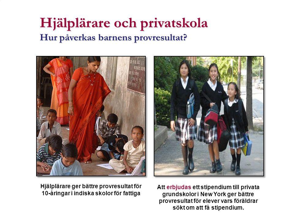 Hjälplärare och privatskola
