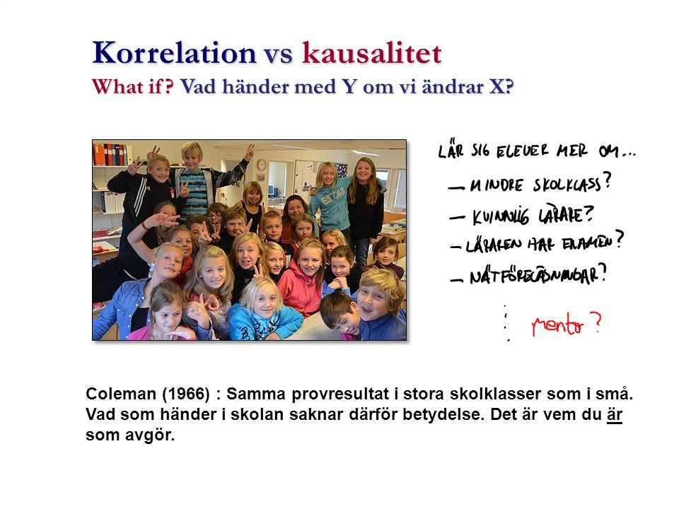 Korrelation vs kausalitet