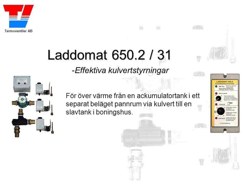 Laddomat 650.2 / 31 -Effektiva kulvertstyrningar