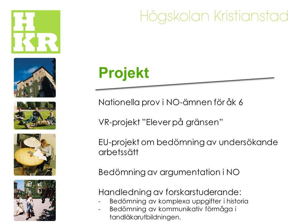 Projekt Nationella prov i NO-ämnen för åk 6