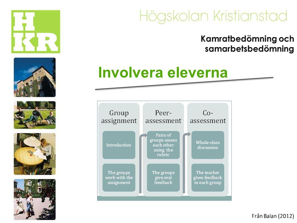 Involvera eleverna Kamratbedömning och samarbetsbedömning