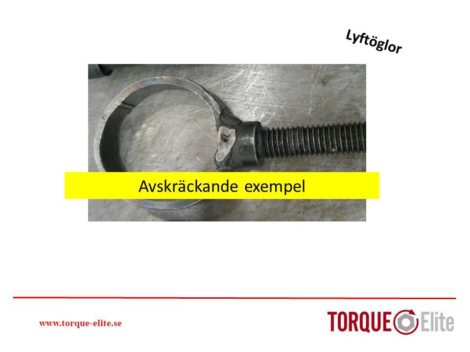 Lyftöglor Avskräckande exempel www.torque-elite.se