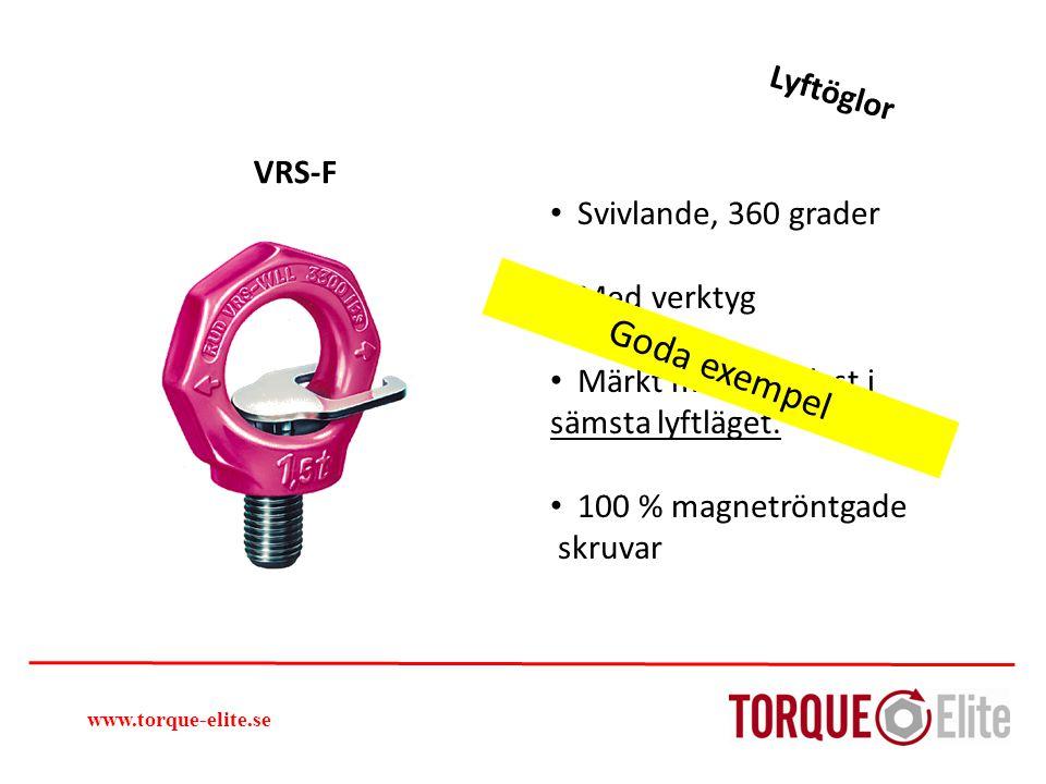 Goda exempel Lyftöglor VRS-F Svivlande, 360 grader Med verktyg