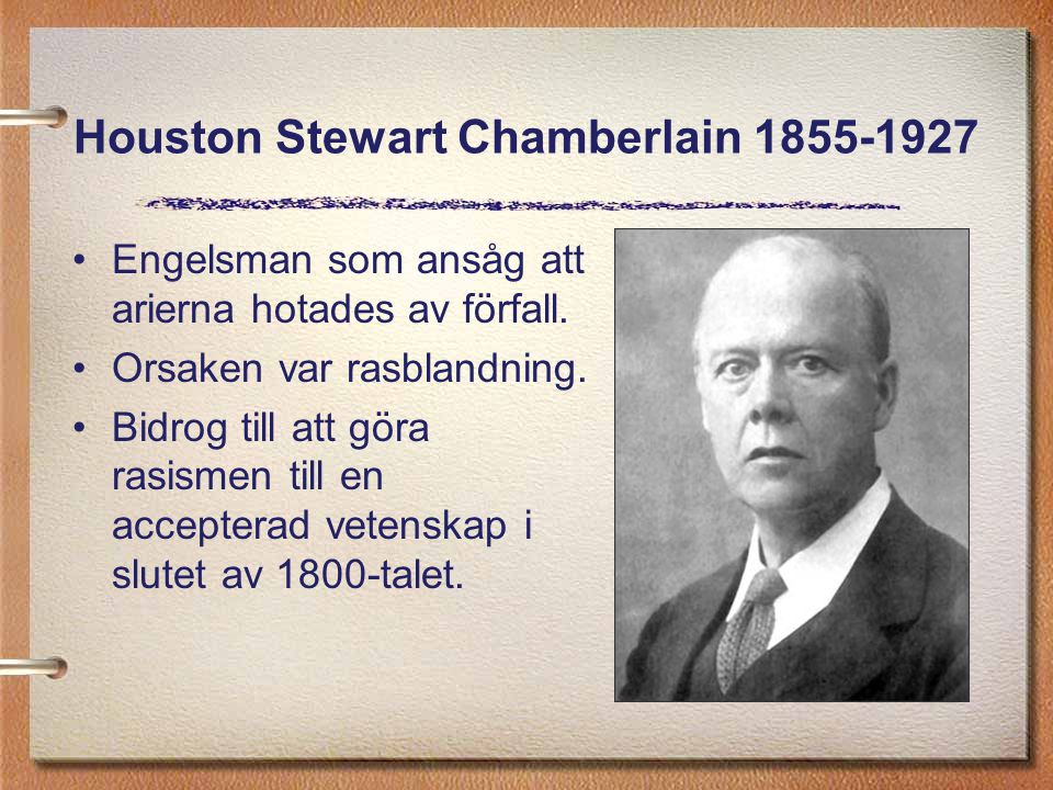 Houston Stewart Chamberlain 1855-1927