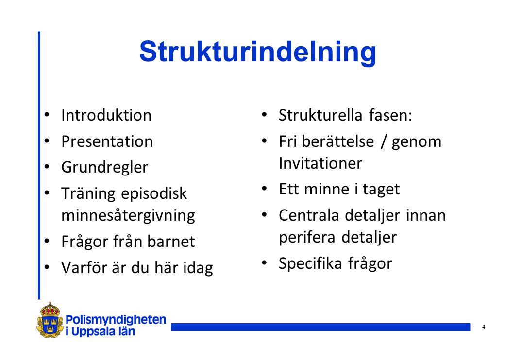 Strukturindelning Introduktion Presentation Grundregler