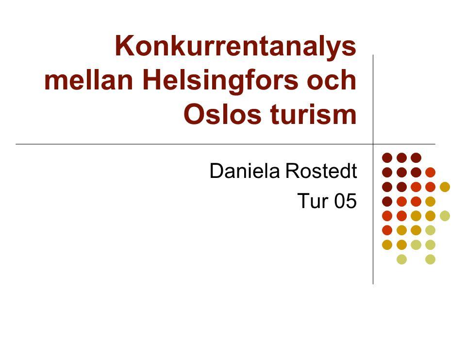 Konkurrentanalys mellan Helsingfors och Oslos turism
