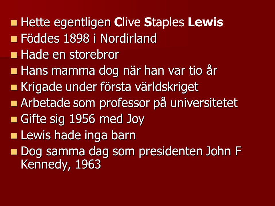 Hette egentligen Clive Staples Lewis
