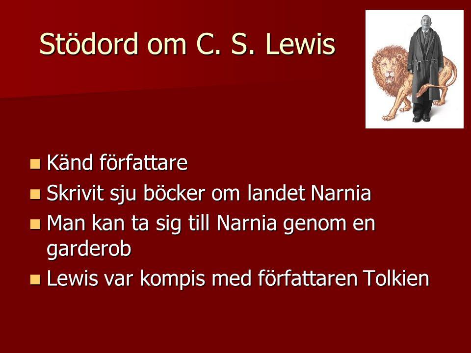 Stödord om C. S. Lewis Känd författare