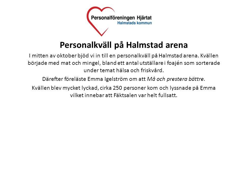 Personalkväll på Halmstad arena