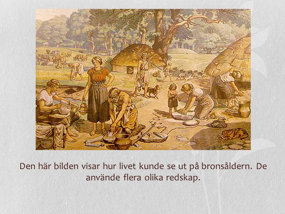 Den här bilden visar hur livet kunde se ut på bronsåldern